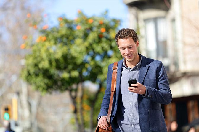 iHound GPS Tracking young salesman